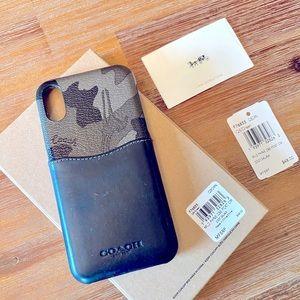 Leather Coach iPhone X case